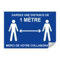 TOPCAR - Panneau Adhésif Garder une distance de 1 mètre - A4 - 4610061