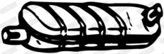 Silencieux central WALKER 04801