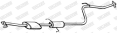 Silencieux central WALKER 16704
