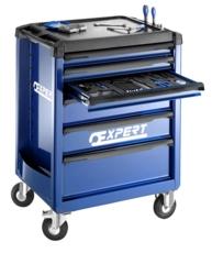 EXPERT - Servante 6 tiroirs avec composition - 208 outils + Clé à choc 1/2'' - E220360