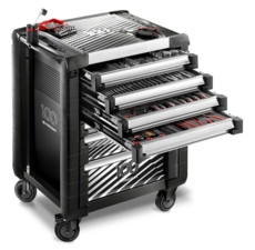 Servante JET.7M3 7 tiroirs avec composition outillage (4 tiroirs complets). Facom Série limitée 100 Ans JET.M3CM100Y
