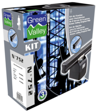 Kit de fixation pour barres de toit Original Pro N755 - 2 barres Green Valley