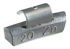 Masses d'équilibrage à crochet pour jantes ALU 25G, boite de 100 pièces KS Tools 1002025