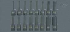 """KSTOOLS - Module de douilles à chocs 1/2"""", 16 pièces - 713.1016"""