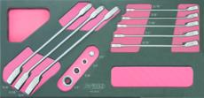 KSTOOLS - Module de clés mixtes à cliquet GEARplus® avec adaptateurs, 12 pièces - 713.2029