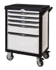 Servante PEARL line blanche, 5 tiroirs KS Tools 803.0005
