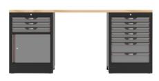 KSTOOLS - Etabli SRM 10 tiroirs + 1 porte - 810.8050