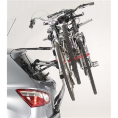 MOTTEZ - Porte-vélos réhaussé, sur hayon premium 3 vélos fixation sur coffre ou hayon - A014PCAD