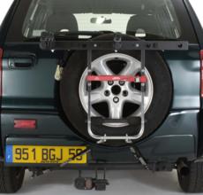 MOTTEZ - Porte-vélo à sangles pour 4x4 - Fixation sur coffre ou Hayon - A500P