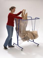 MOTTEZ - Support sac poubelle 600 litres avec roulettes - B015CXL
