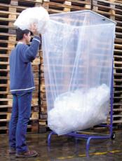 MOTTEZ - Support sac poubelle 1000-1500-2500 litres, réglable trois positions possibles avec roulettes - B068C