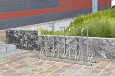 MOTTEZ - Râtelier 5 vélos avec 4 arceaux pour antivol - B131AR