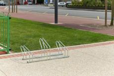 MOTTEZ - Râtelier sur 2 niveaux cote à cote pour 3 vélos - B199C