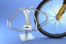 MOTTEZ - Range vélos Étoile 3 vélos Modèle sur pied - B203C
