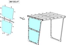MOTTEZ - Bardage latéral droite ou gauche plexiglass 6mm - B813CLAT