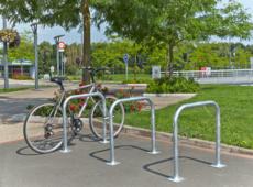 MOTTEZ - Arceau simple range vélo à platine - B883VGA