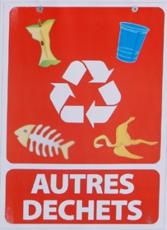 MOTTEZ - Lot de 3 panneaux tri sélectif: 1 pour plastique + 1 pour papier + 1 pour autres déchets - B901S3