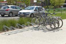 MOTTEZ - Râtelier sur 2 niveaux cote à cote pour 8 vélos - M024V8