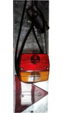 Rampe d'éclairage complète pour remorque bagagère TOPCAR