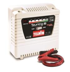 TELWIN - Chargeur de batterie avec contrôle électronique de charge 12/24V touring 15