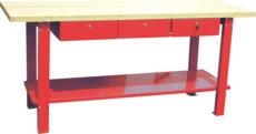 TOPCAR - Etabli bois avec 3 tiroirs - 09279