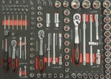 TOPCAR - Servante 5 tiroirs - 180 outils - 09242