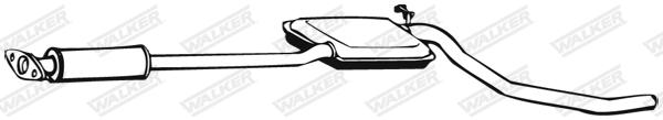 Silencieux central WALKER 02622