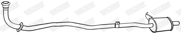 Silencieux central WALKER 03705