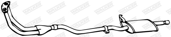 Silencieux central WALKER 03707