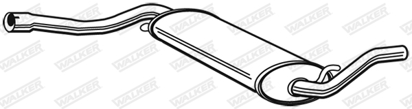 Silencieux central WALKER 04165
