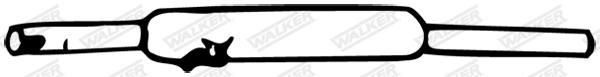Silencieux central WALKER 04758