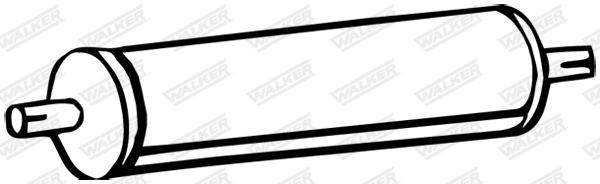 Silencieux central WALKER 05158