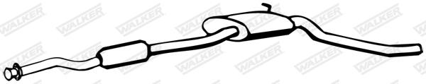 Silencieux central WALKER 09453