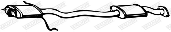 Silencieux central WALKER 09457