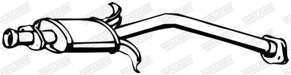 Silencieux central WALKER 09557
