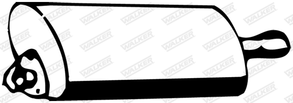 Silencieux central WALKER 09610
