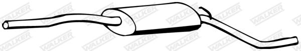 Silencieux central WALKER 12357