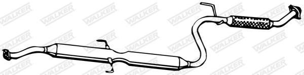 Silencieux central WALKER 13321
