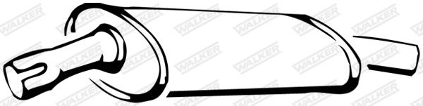 Silencieux central WALKER 14225
