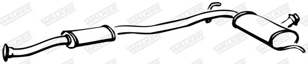 Silencieux central WALKER 15110