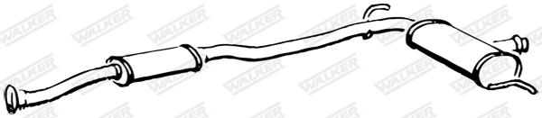 Silencieux central WALKER 15536