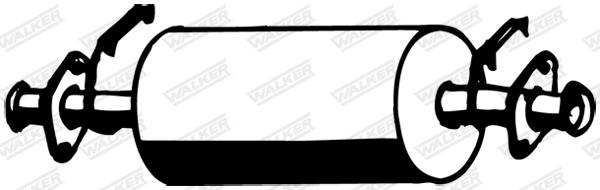 Silencieux central WALKER 16216
