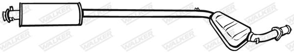 Silencieux central WALKER 16861