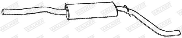 Silencieux central WALKER 17081