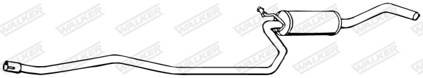 Silencieux central WALKER 17296