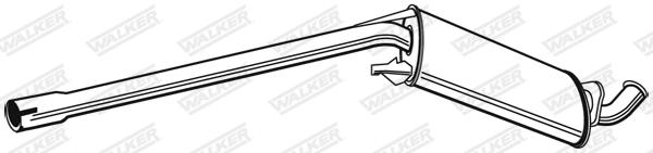 Silencieux central WALKER 21208
