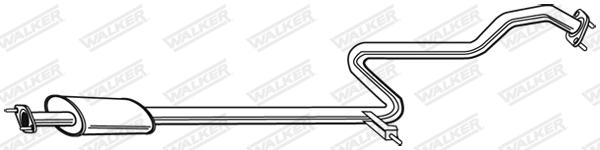 Silencieux central WALKER 21283