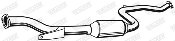 Silencieux central WALKER 21360