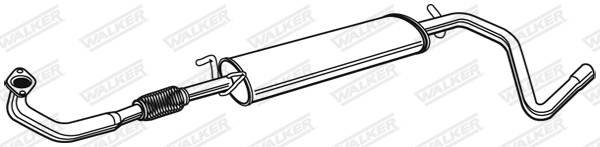 Silencieux central WALKER 21499