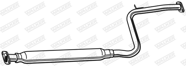 Silencieux central WALKER 22102